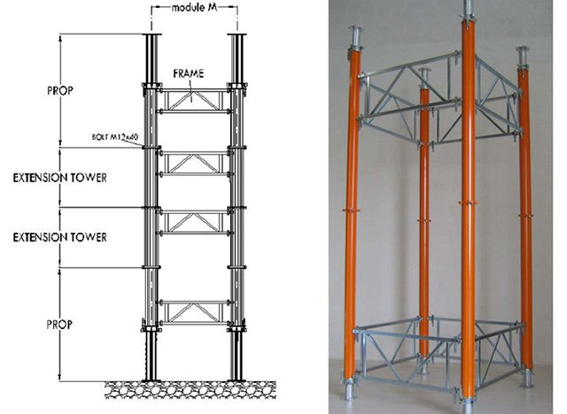 TOWER SHORING SYSTEM TF ALU